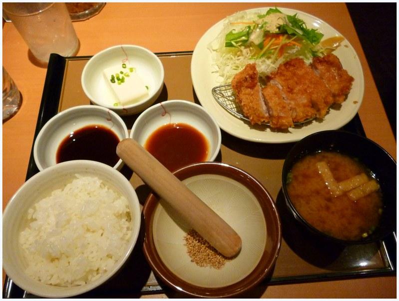 Katsu set at Yayoiken