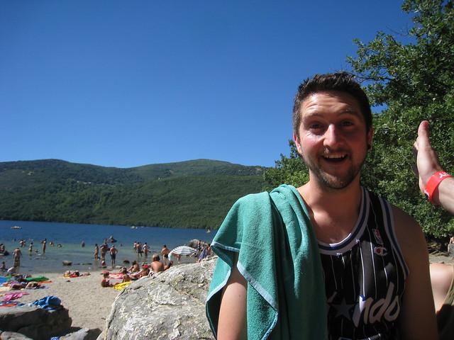 Cara de satisfacción ante el inesperado lago de Sanabria