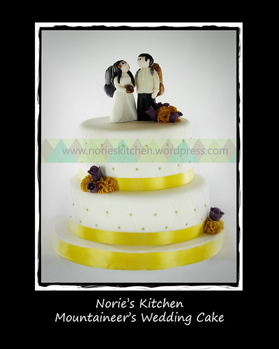 Norie's Kitchen - Mountaineer Wedding Cake by Norie's Kitchen