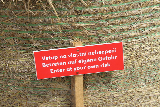 Hay Bale Fort disclaimer