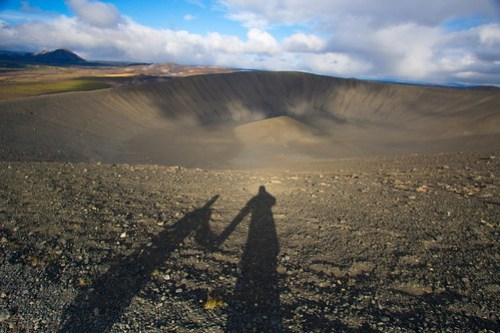 Hiking the Crater Hverfjall