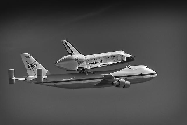 Heading Home - Endeavour - 2012 (B+W #3)