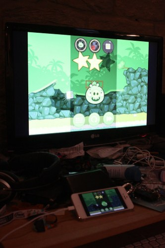 Bad Piggies and Airplay Mirroring