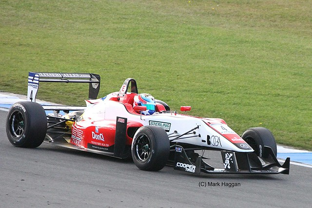 Félix Serrallés during Formula Three Racing at Donington Park, September 2012