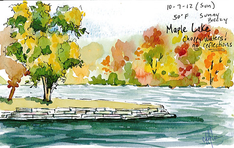 20121007_maple_lake_sketch