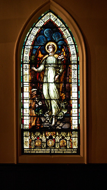 Chapel window of an angel