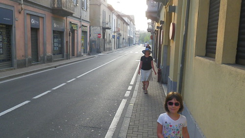 Walking home in Saronno