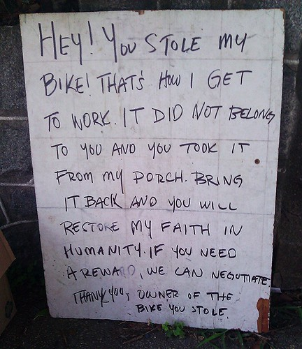I Stole Your Bike