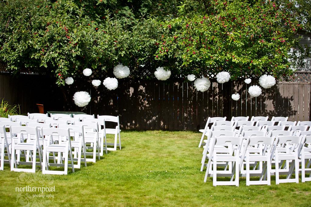 DIY Backyard Wedding Ceremony