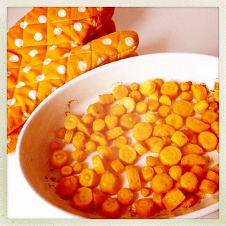 Oven-roasted carrots for Thai Carrot Soup
