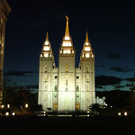 Temple Square at night, Salt Lake City