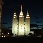 Temple Square at night, Salt Lake City