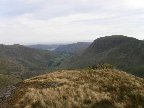 Looking down Grizedale from Falcon Crag