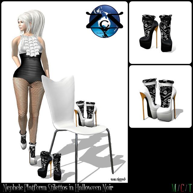 ZcZ Nephele Platform Stiletto Heels