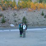 Dave & Jenn at Lake Sabrina parking lot