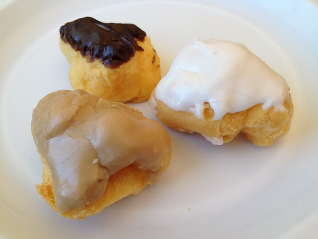 French cruller hole cream puffs - Rolling Pin Donuts