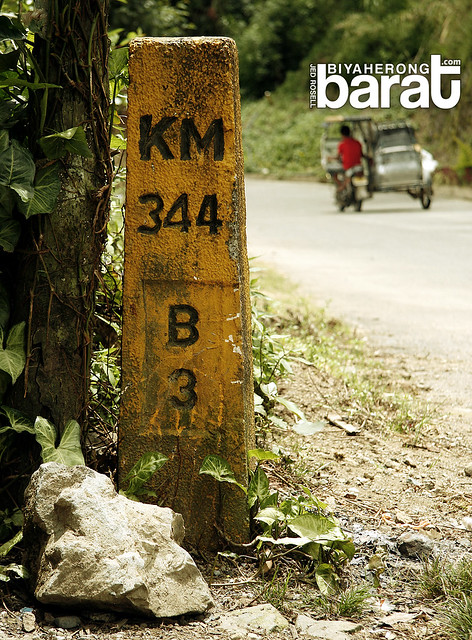 344 kilometers Banaue to Manila