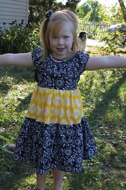 She loves her new dress