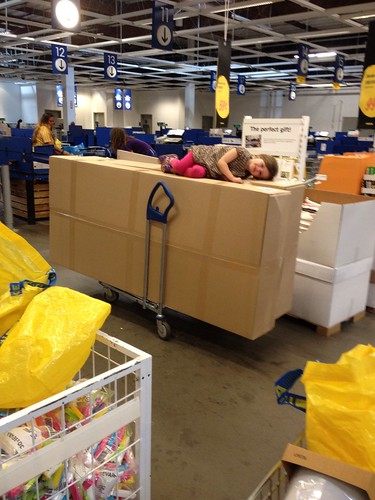 keeping cate occupied at ikea