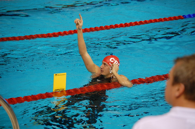 Draganja after the Rijeka 2008 men's 50 free