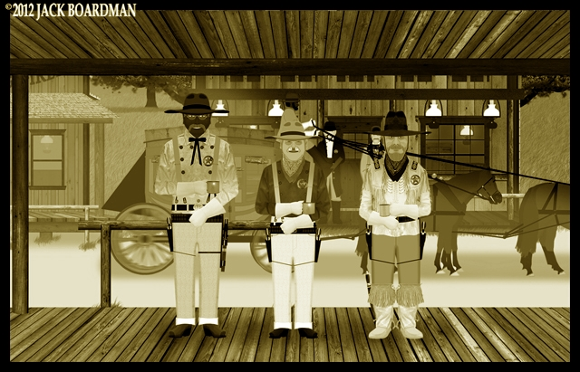 The Pettifoggers were ready to board the stagecoach ©2012 Jack Boardman
