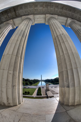 What the Lincoln Memorial sees every day by chris favero