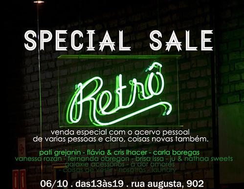 venda especial Retrô by N O S OT R O S