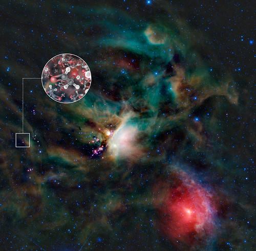 Moléculas de azúcar en el cosmos