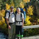 Dave & Jenn at Lake Sabrina trailhead