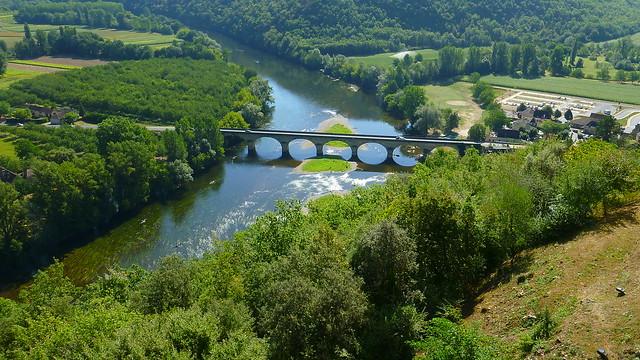 Castelnaud bridge over the Dordogne