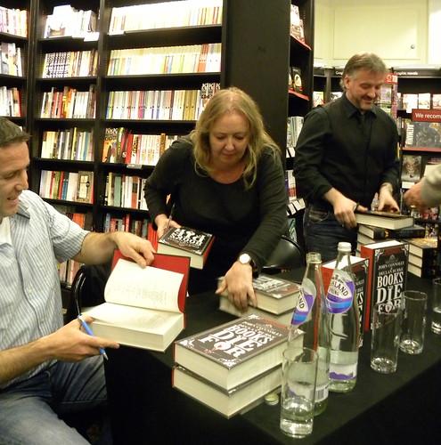 Declan Burke, Barbara Nadel and John Connolly