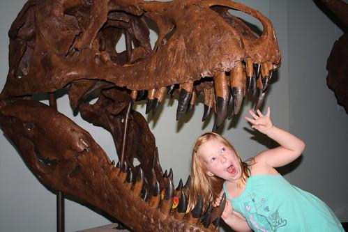 Aaaah! I'm being eaten by a T. Rex