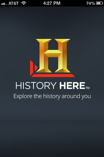 HISTORY Here iPhone App-Start Page