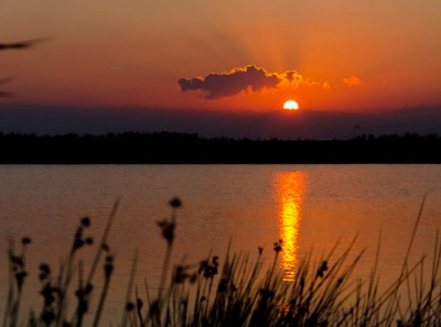 Sunrise over the Marinello lagoon