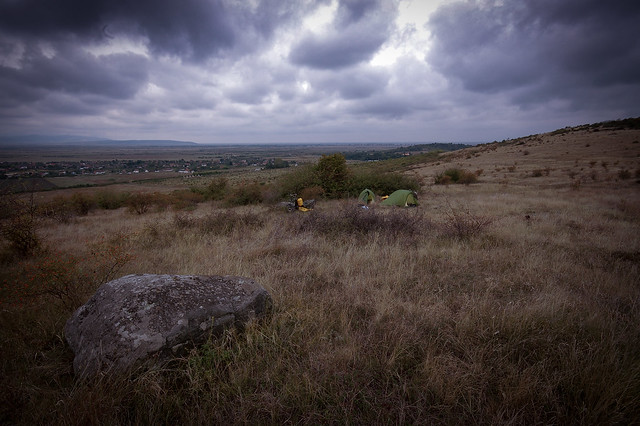 Wild-camping in western Romania