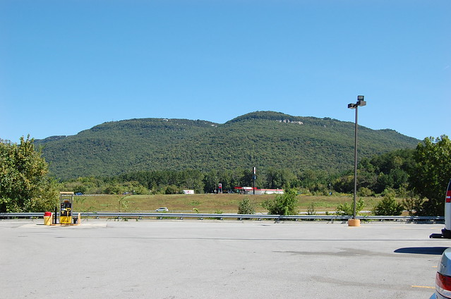 View of the ridge from a truck stop