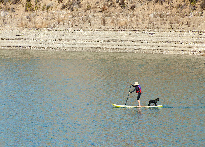 Stand up paddling, Steven Creek Reservoir