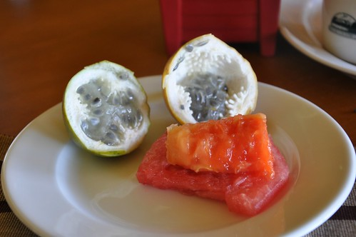 Passionfruit, papaya and watermelon