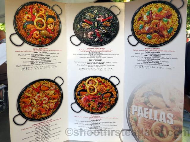 La Ochava's menu