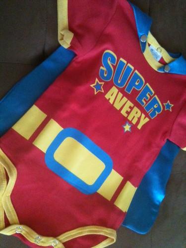 Super Baby Custom Onesie