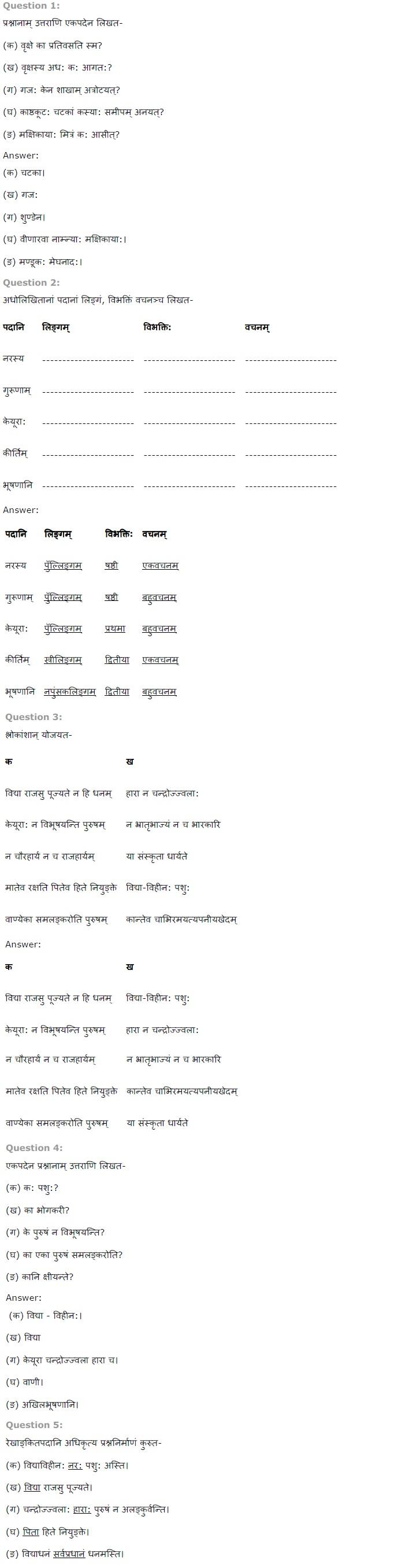 NCERT Solutions for Class 7th Sanskrit Chapter 12 - कल्पलतेव विद्या
