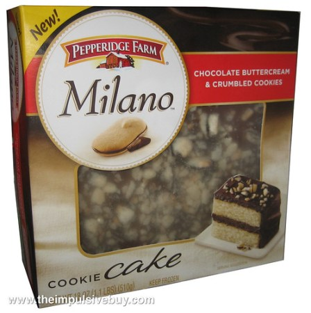 Pepperidge Farm Milano Cookie CakeChocolate Buttercream & Crumbled Cookie