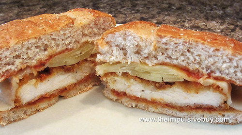 Burger King Chicken Parmesan Sandwich Split