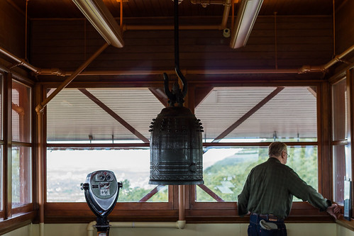 A Man in his Pagoda and his bell by chris favero