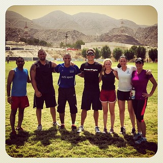 The awesome 6 that finished the final workout #smashlife #muscat #workout #sunshine