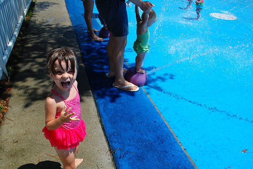 At the Navarre sprinkler park.