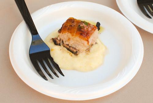 Scarpetta porchetta, smoked brentwood corn, pickled mustard seed vinaigrette