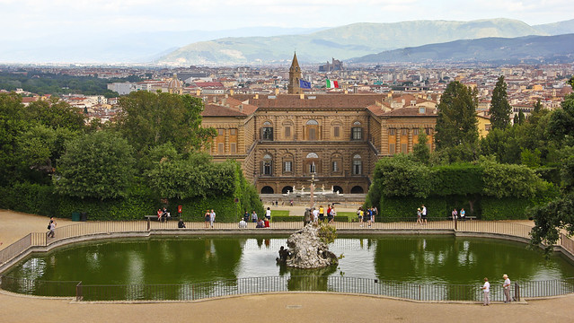 Pitti Palace & Florence from the Boboli Gardens by Avital Pinnick on Flickr