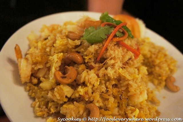 3.Khow Ob Sapparod Goong- Pineapple Fried Rice with Prawn topped with Chicken Floss RM 16@goodevening bangkok