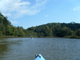 Alan Paddles Ahead on Lake Saluda